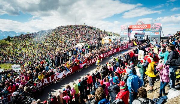 Spectacular: that has to be the best word to describe the @giroditalia finish on the Zoncolan. #giro http://t.co/AThAfZO1Q3
