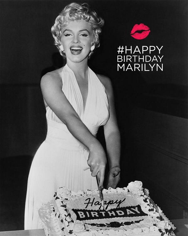 Happy Birthday Marilyn Monroe! #HappyBirthdayMarilyn http://t.co/lpYTejT9iu