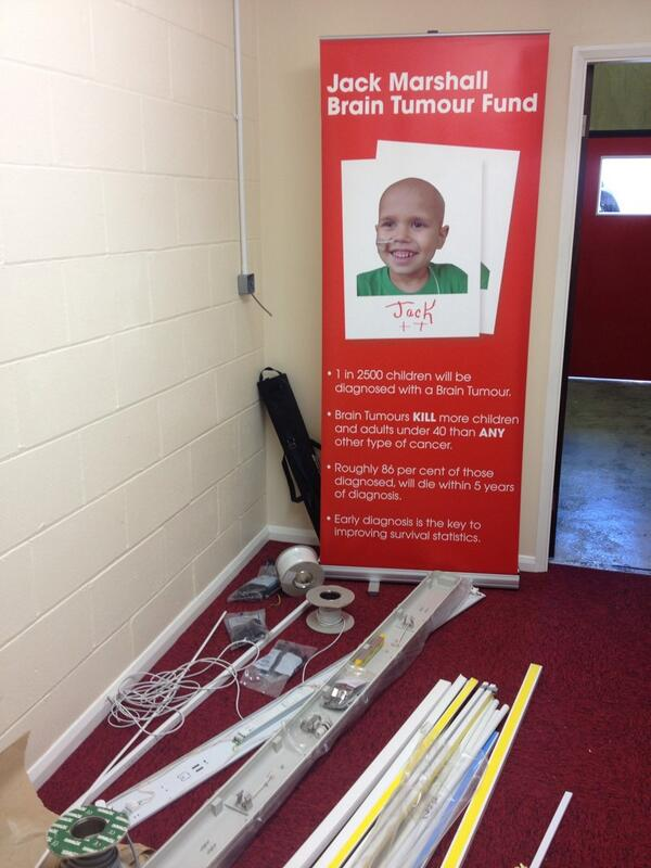 Jack Marshall Brain Tumour fund HQ taking shape! Proud of Jacks dad for sticking at it! #determination http://t.co/udPqw7fUQE