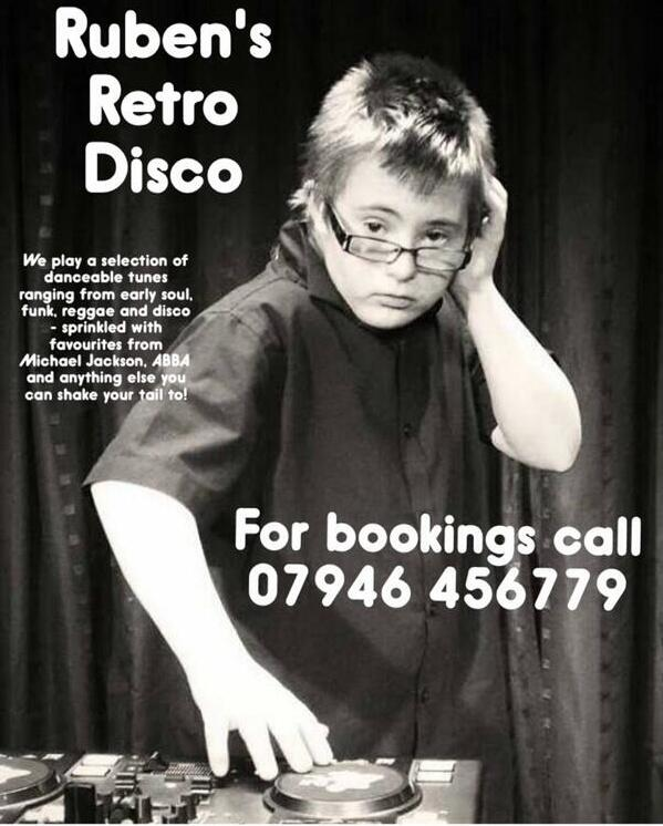 RT @shabangtheatre: Look out for Ruben's Retro Disco @DisabilityRocks next weekend! http://t.co/5bnNulLyNy