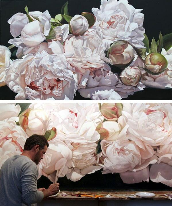 Flower paintings by Thomas Darnell http://t.co/SDk1yD8pey