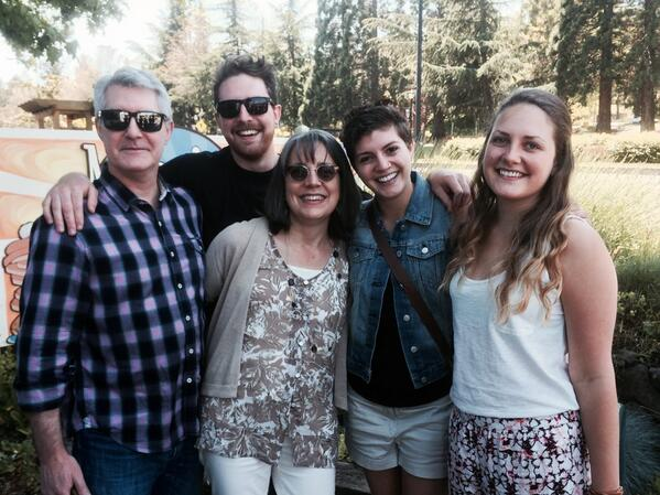 Catherine Azzarello (@azzcatdesign): Happy birthday to me! #56 with my family in Ashland, OR. http://t.co/wehYasY2tq