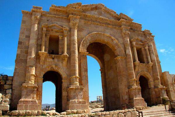 Arch of Hadrian - Jerash, Jordan - Photo http://t.co/2NcaLnNfyl #travel #photography http://t.co/xoF39efrif