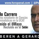 #25E Gerardo Carrero: 262 días privado de libertad http://t.co/RrNKfoT0Id #LiberenAGerardo