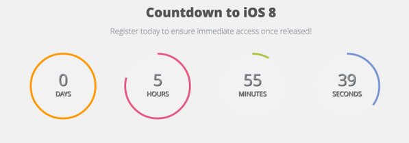 #iOS8 #countdown   Register now to ensure guaranteed immediate access no delays!  https://t.co/7TKrr6He3R http://t.co/1qnDqSNVoY