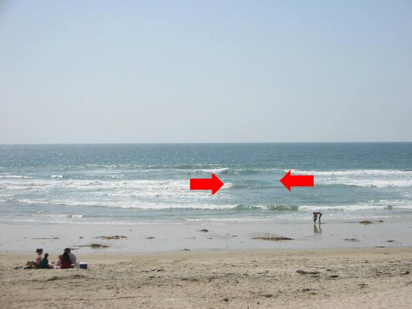 Ever see a #RipCurrent from the beach? It's the area between the arrows. Plz RT! More: http://t.co/CqHTLDSt1N http://t.co/U7mhDgTSiv