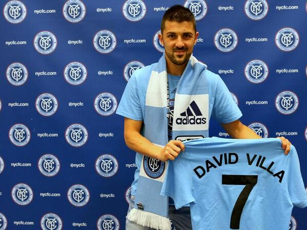 BREAKING: @NYCFC officially announce David Villa as their first ever player. http://t.co/To3H2aLNpx
