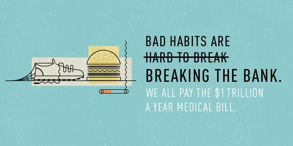 $1 TRILLION: what we all pay to treat conditions caused by our bad habits. http://t.co/isjZEeesez #letstalkcost http://t.co/cLqfGrtBwI