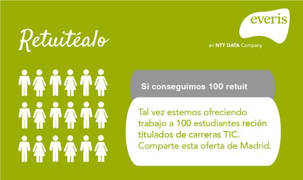 Oferta de #empleo para recién titulados #TIC en @everis Madrid: http://t.co/PZW6xJvxh1 #trabajo #Informática #Teleco http://t.co/TtDRPb20tZ