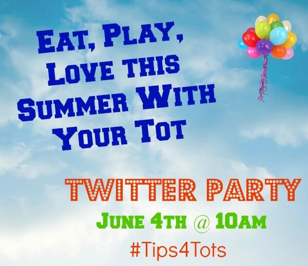 Join me 4 #Tips4Tots Twitter Party w/ @HealthyEating and @First5Sac. Prizes, Summer fun ideas with your tots & more! http://t.co/NqvdGZcXZk