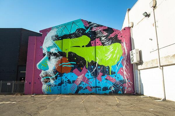 Sick #mural by @Askewone who will be featured in our Spring Art Collection. More at http://t.co/y9ScYHUJMS http://t.co/cCiGPcOKvK