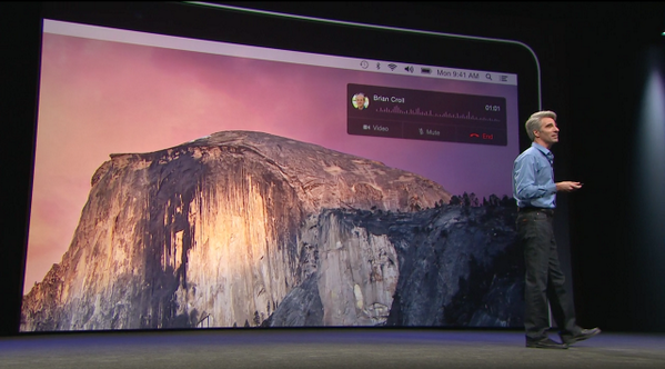 Can now receive and accept calls going to your iPhone on your Mac, never miss a call. SMS also go to Mac #WWDC14 http://t.co/joWxtlwhtn