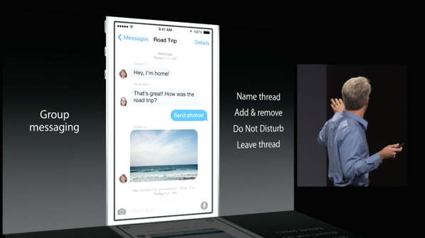 iOS 8 Messaging: You can leave a group text message!!! http://t.co/yvdKUXEXHE