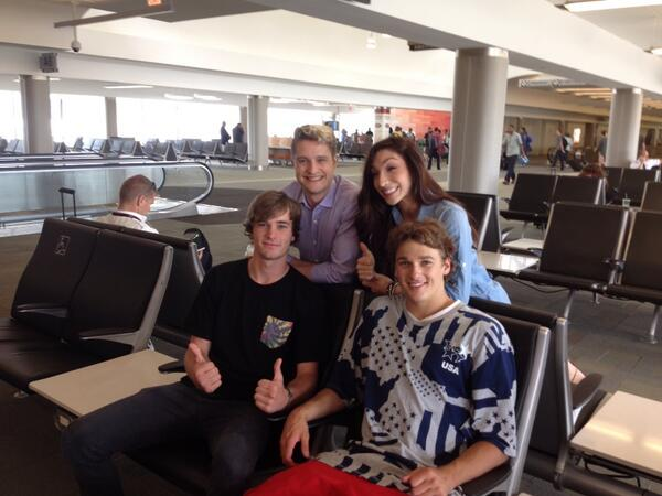 Cool seeing all the Olympians at CVG today! @meryl_davis @charlieawhite @NickGoepper Thanks for flying CVG. http://t.co/aTXxD0LWOO