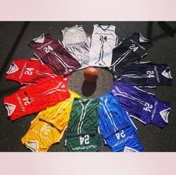 Check out this summer's uniforms! Tipoff is exactly one week away!!! #dyckmanbasketball http://t.co/nvM24YSH7s