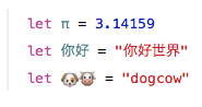 Best feature, you can use emojis as variable names. #swift http://t.co/x4Ri57QAPD