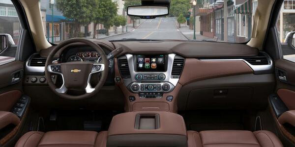 El interior de la nueva Tahoe, un lujo...gracias @ChevroletMexico http://t.co/eRaMprekDF
