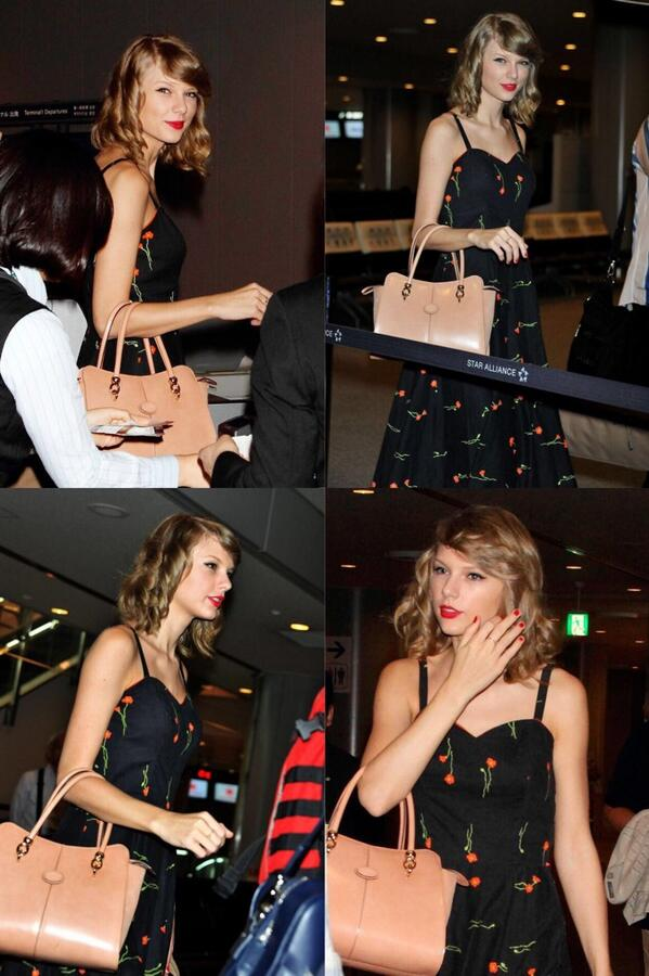 (Pic) Taylor At Narita International Airport in Tokyo, Japan. She's on her way to Jakarta! #REDTourJKT http://t.co/KPxMkPujH1