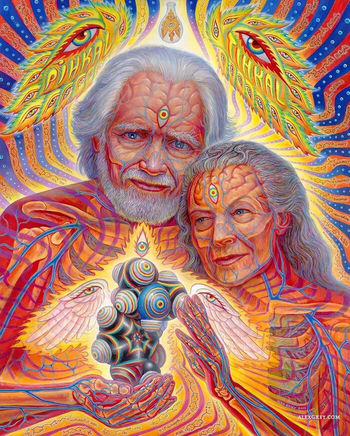 """""""The Shulgins and their Alchemical Angels"""" Thank you for your enchanted molecular offerings to humanity Sasha! http://t.co/miC9CNzcpw"""