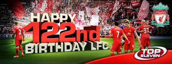 Happy Birthday Liverpool fc Happy Birthday Liverpool fc