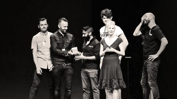 RT @ustwo: The @ustwogames team collecting their  Design Award for Monument Valley at #WWDC14. So much wow! #ADA http://t.co/WlMIeK2LvQ