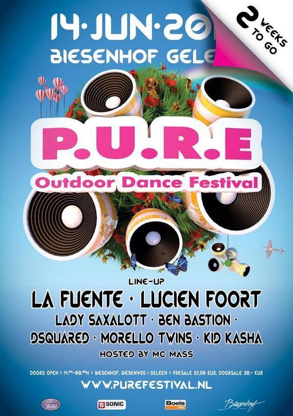 NL: Ik mag 2 tickets weggeven voor mijn show @ Pure Outdoor Dance Festival!! RT & WIN!!!!! http://t.co/7qnYqnZ9Kw