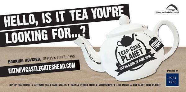 Join us for Tea & Cake Planet Sat 28 & Sun 29 June - tickets on sale now! http://t.co/YhlXVYkSze http://t.co/PJf2XX8uEk