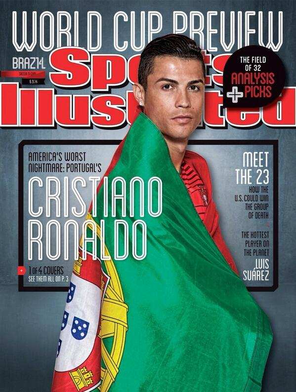 BpOeeS9IcAAFUFc Messi, Ronaldo, Suarez and Dempsey feature on collectible World Cup covers of Sports Illustrated [Pictures]