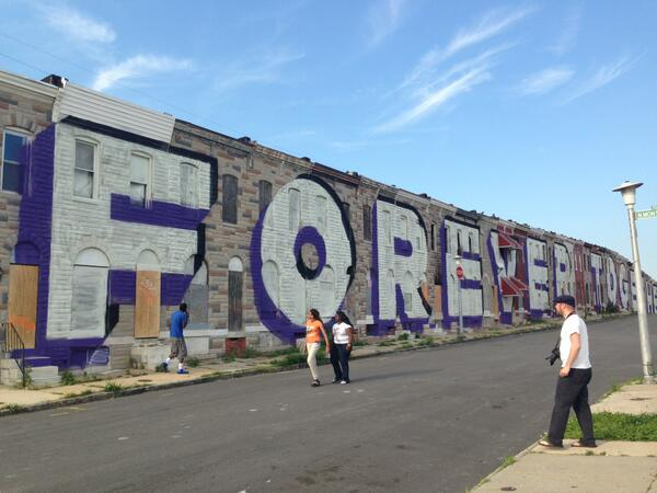 Love Letter to Baltimore: Artist @steveESPOpowers & team have installed a pop-mural as part of an upcoming project: http://t.co/IXvc2D4Yf2