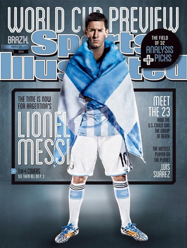 BpOhhgyIIAAjly  Messi, Ronaldo, Suarez and Dempsey feature on collectible World Cup covers of Sports Illustrated [Pictures]