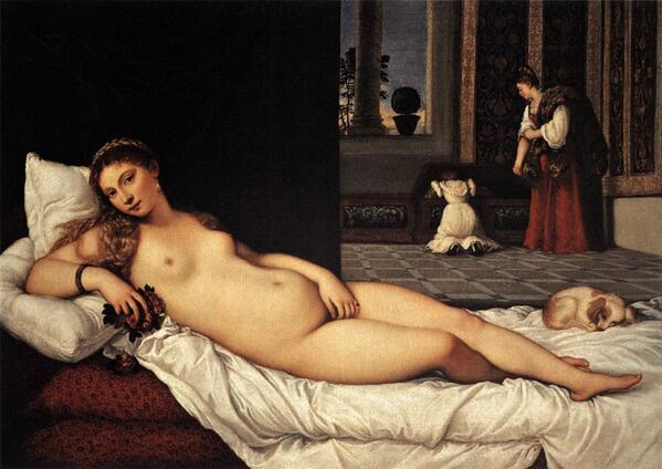 • #Venere di Urbino, #Tiziano, 1538, #Firenze • @Biagio960 @Asamsakti @JoaquinV_ @storiedellarte http://t.co/oTGpqcwdew