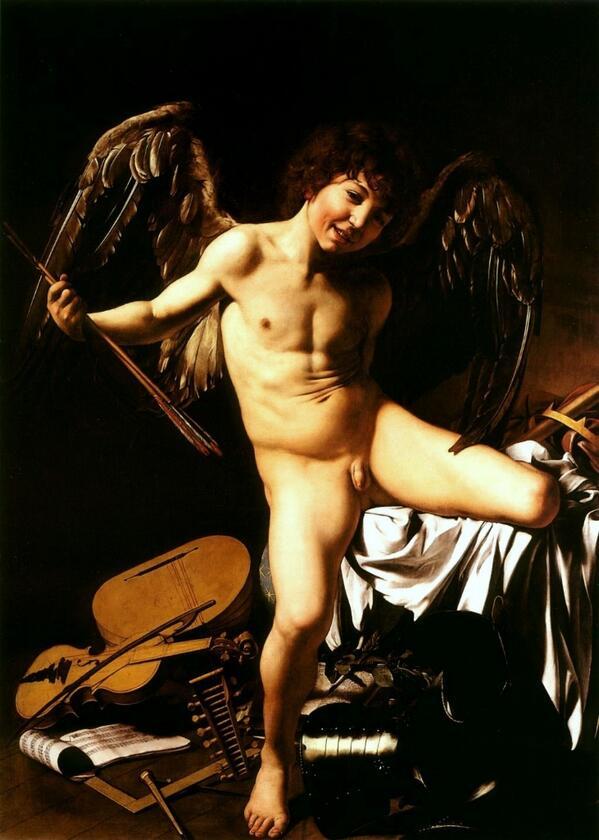 • #Amor vincit omnia, #Caravaggio, 1602-1603, #Berlino • @geminicat7 @Asamsakti @Biagio960 @AlazardJ @oigres59 http://t.co/AixdM0TOF4