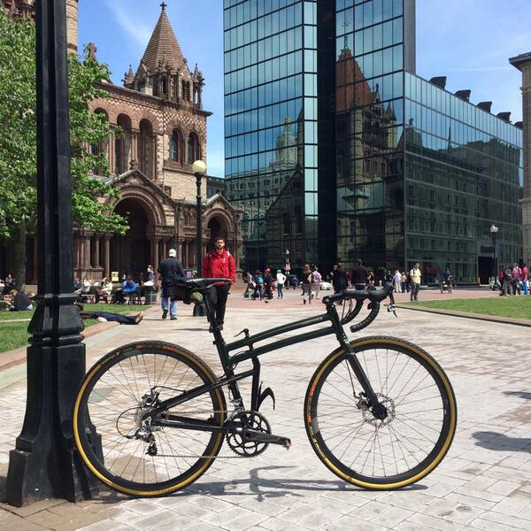 #realbikesthatfold, Copley Square in #Boston http://t.co/d18K7YOqMs