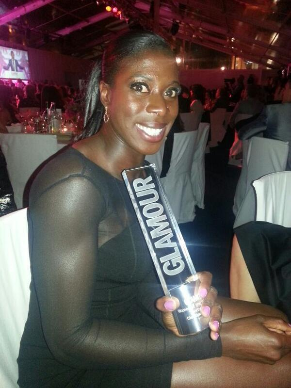 Wow! I won Sportswoman of the Year at the #glamourawards Having a great night. So many amazing women in attendance http://t.co/Xyc89T3cw9