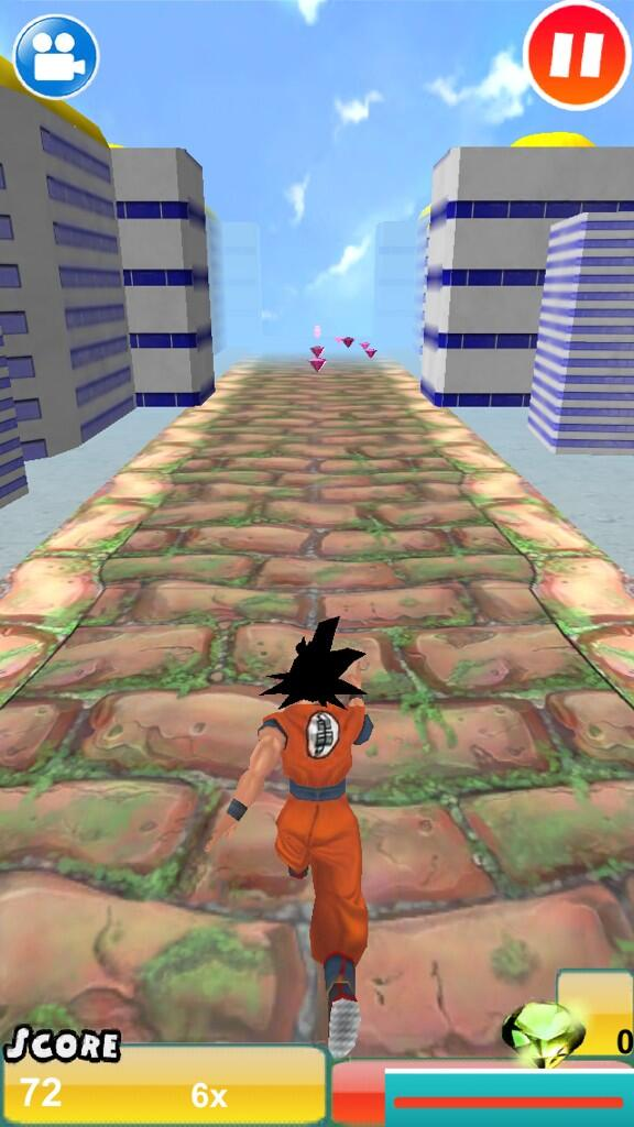 Dbz temple run!! In the App Store search for: 3D super Saiyan evolution battle http://pic.twitter.com/kpgfQ8IlTD