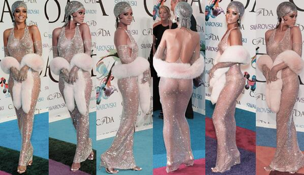 Nobody has ever looked as good, both naked & dressed at the same time. .@rihanna #cfdaawards http://t.co/dDYbzcNZK7
