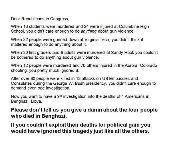 Dear #GOP, For those of you who insist we need to keep investigating #Benghazi ad nauseum, read this: http://t.co/YYc5264O7W