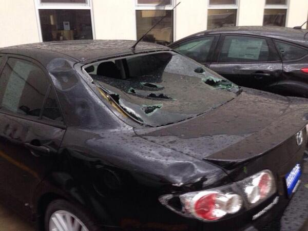 According to @WoodhouseAuto, 4500 vehicles pummeled by hail in Blair, NE.  Over $152 million dollars of inventory. http://t.co/oDsIdsoS0K