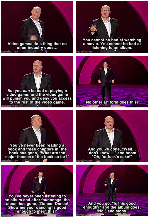 Imagine if other art forms challenged and punished you the way videogames do - hilarious! ^_^ http://t.co/KPpzBoBPNL (Thanks @syrrann!)