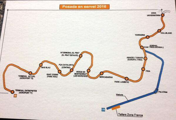 El tram de la L9 de #metrobcn que es posarà en servei el primer semestre del 2016 http://t.co/uF6NEESeZO