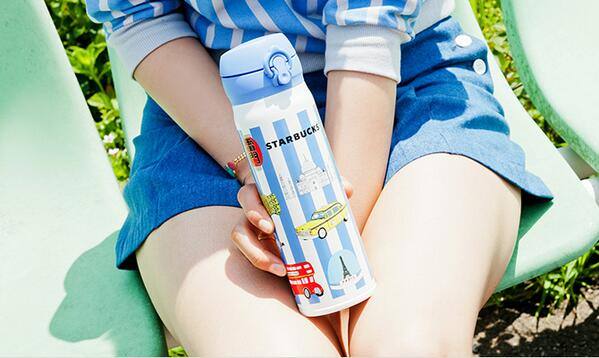 """""""STARBUCKS, Wandering Tumbler""""  .fatale × スターバックス、""""旅するタンブラー""""。 http://t.co/xyFoRbWbEs http://t.co/9zo6P8MA9U"""