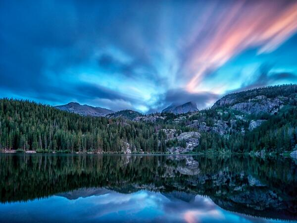MT @Interior: Beautiful photo from just after #sunset in Rocky Mountain National Park. @RMNPOfficial http://t.co/Z3ETTxyLjM #MyNightSky