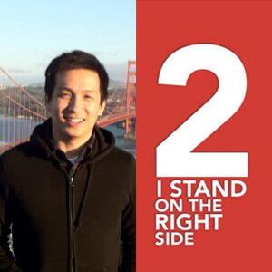 I #StandOnTheRightSide because the right side is the bright side :) http://t.co/8DtLViFr80