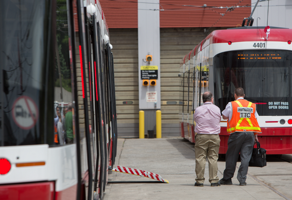 This will be deadly. RT @RandyRisling: What car drivers will see when all doors are open on the new #TTC streetcars: http://t.co/oFe5jJm85E