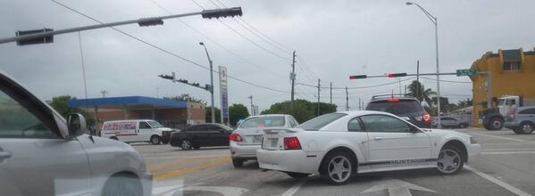 In Miami, we make right turns from the left lane. http://t.co/2sPlYYLGHN