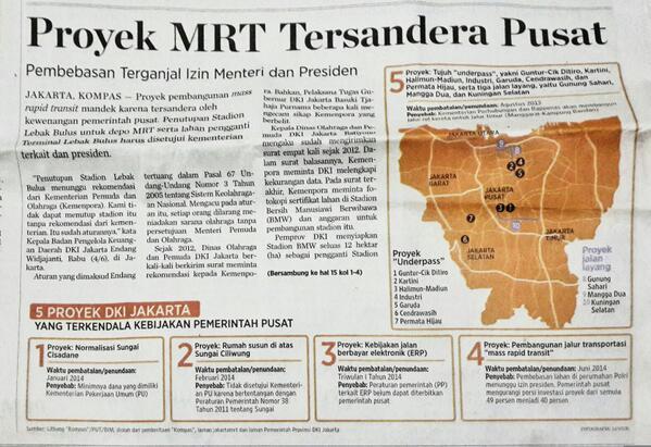 Warga DKI, kita mudahkan pekerjaan gubernur Ahok dgn memilih Jokowi. Selama ini perbaikan Jkt terganjal pem pusat. http://t.co/6JOOeR6imn