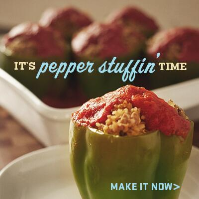 How much quinoa can you stuff in a pepper? Let's find out and get the recipe here. http://t.co/Opdpo07Atg #proudofit http://t.co/vLYqI76fKS
