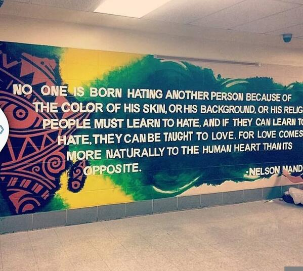 Check out this beautiful student made mural inspiring passers to #learn #love #wednesdaywisdom #Indiana http://t.co/XL4do7zMRx