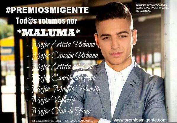 Juan Parra (@MANAGERMALUMA): Todos a votar en #PremiosMiGente por el #prettyboy #DirtyBoy http://t.co/nGcLprkt49