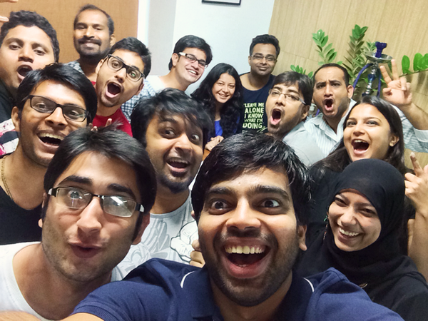 Yo, welcoming @shobhitic a.k.a @inkmat creator to @JustUnfollow team. One big #Selfie of #SuperCoolTeam http://t.co/1iM45Qukmj